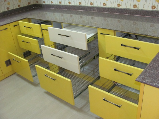 Lemon and white storage solutions