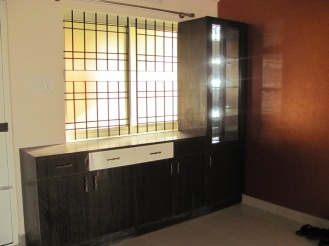 A built in display unit, perfect for your in room entertainment system
