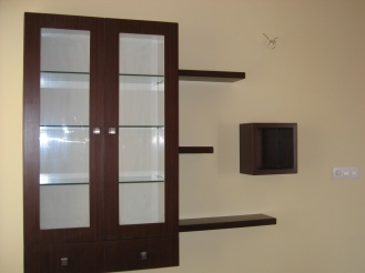 A storage display which can be used as a book shelf or decor display