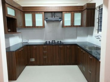 A kitchen turned to a U shape from an L shape for more space