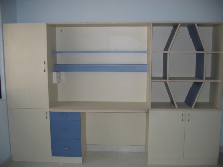 Neat partitions which can be used at as an entertainment unit or a work station